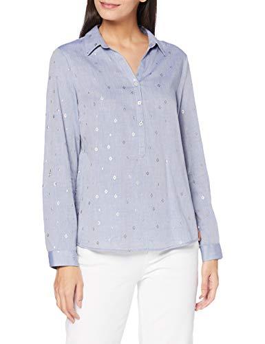 Cecil Damen B342252 Bluse, Blouse Blue Melange, X-Large