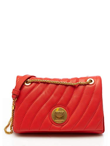 Coccinelle Borsa da donna colore rosso in pelle trapuntata con tasca interna, tracolla regolabile in maglia metallica e pelle. E1ED3120301. BIOSABORSE