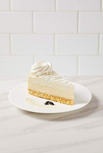 """The Cheesecake Factory 10"""" Vanilla Bean Cheesecake 14 Slices- 80 ounce (Pack of 2)"""
