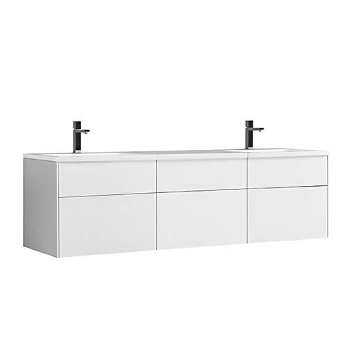 Stoneart Venice VE-1800-II - Mueble de baño (180 x 52 cm), color blanco