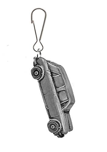 Oldtimer-Prinzessin Vanden Plas 1300 ref12 Zinn-Effekt Design auf einem Reißverschluss, Jeans-Taschen zum Überziehen mit Reißverschluss
