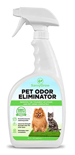 SavvyGrow Pet Odor Eliminator for Artificial Grass - Enzymatic Cleaner for Dog Urine, Cat Urine, Pet Stains and Odors - Enjoy Stain and Odor-Free Artificial Grass - Pet Urine Odor Eliminator Spray