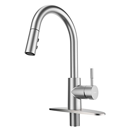 LEPO Kitchen Faucet for Sinks with Pull Down Sprayer High Arc Single...