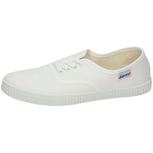 JAVER 60 Bambas Lona Ingles Mujer Zapatillas Blanco 39