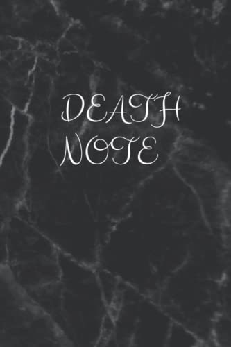 DEATH NOTE: NOTEBOOK: 6' x 9' 100 Pgaes, Journal For Death Note. Best Gift For Death Note Fans. Black Cover Journal. bullet journal Death note gift. death note diary