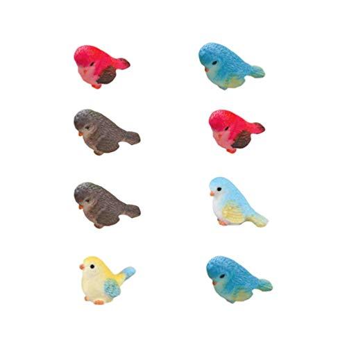 YARNOW 8 Piezas de Figuras en Miniatura de Aves Mini Figura de...