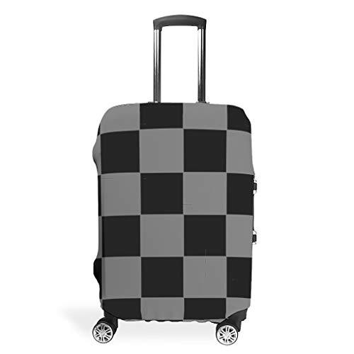 XJJ88 - Fundas para Maleta de ajedrez de Viaje, diseño de celosía, Color Negro y Gris, Blanco (Blanco) - XJJ88-scc