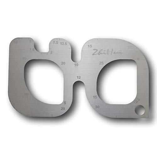 TNBF 金属製 アール 定規 R じょうぎ 切り出し レザー 革 加工 道具 r ゲージ 工具 1