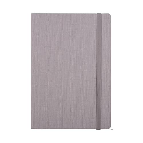 HYAN Papel de Cuero del Estudiante de la Oficina de la Revista del Cuaderno con marcadores de Papel Blanco de Marfil (Gris, Azul) 9.8 Pulgadas * 5.6 Pulgadas (Color : Gris)