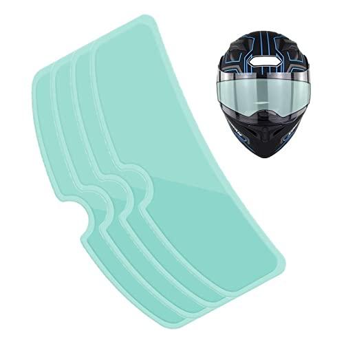 Impermeable, Antivaho Casco,Antivaho Casco Moto, Película Casco Moto, Visión HD, Resistencia a La Hidrólisis Física, Antivaho, Antideslumbrante, Película Protectora Transparente Para Casco.(4PC)