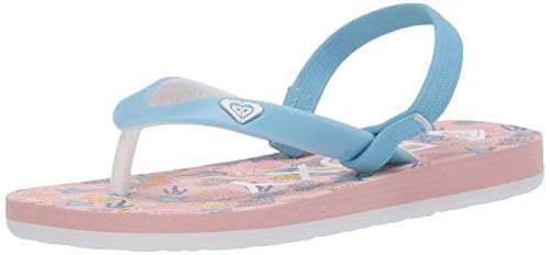 Price comparison product image Roxy Baby-Girl's TW Tahiti Sandal Flip-Flop,  Pink Carnation 202,  9 M M US Toddler