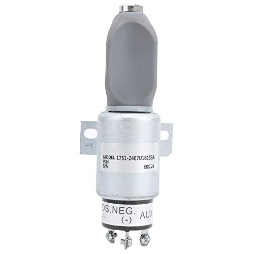 Válvula solenoide de apagado, SA-3933 Válvula solenoide de corte de aceite de apagado, reemplazo del interruptor de control de apagado 1751-24E7U1B1S5A 24V