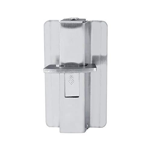 Knipperend deurvergrendelslot, zilver roestvrij staal, duurzaam materiaal met kleurverschil voor scheidingswanden en schotdeuren voor openbare toiletten