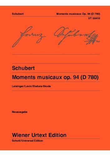 Moments musicaux: Nach der Originalausgabe. Neuausgabe. op. 94. D 780. Klavier. (Wiener Urtext Edition)