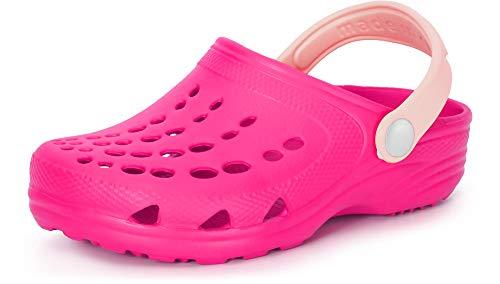 Ladeheid EVA Zuecos Clog Zapatos Unisexo Niños Niñas LA-CA-06 (Fucsia/Polvo Rosa, 26/27 EU)