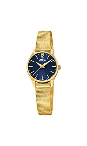Lotus Watches Reloj Análogo clásico para Mujer de Cuarzo con Correa
