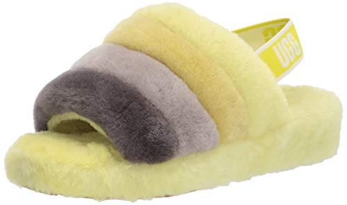 UGG Fluff Yeah Slide Slipper, Sulfur Multi, Size 9