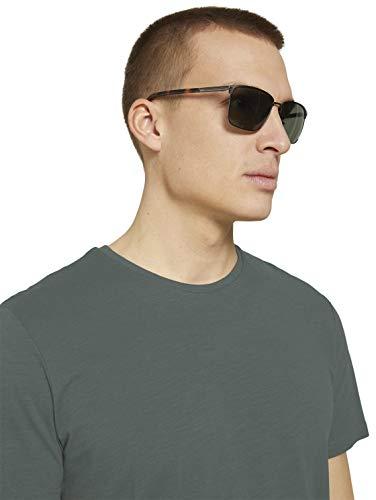 TOM TAILOR Herren Eyewear Sonnenbrille mit getönten Gläsern brown matt-gun,OneSize,E342,8000