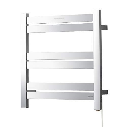 SHARNDY Heated Towel Rack Wall Mounted Plug-in Polished Towel Warmers for Bathroom 80W UL Listed