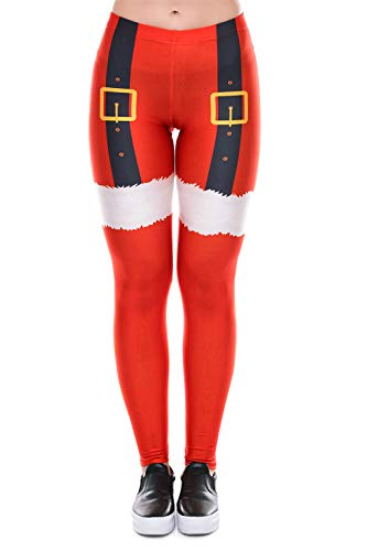 Timemory Womens Halloween Leggings Stretch Tights Cosplay Costumes Tiger Stripes #S/M