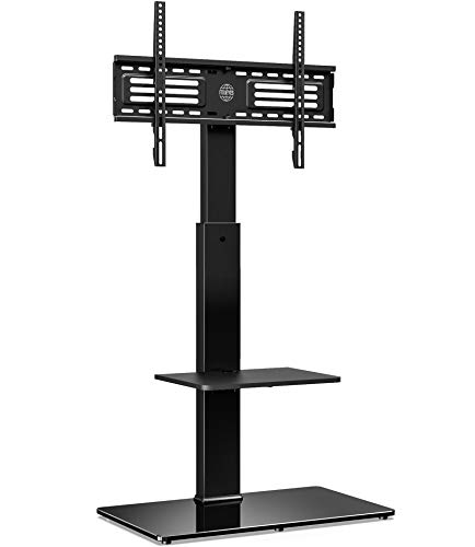 FITUEYES Soporte Giratorio de TV de 32 a 65 Pulgadas con 2 Estantes Soporte de Suelo para Televisión LCD LED OLED Plasma...