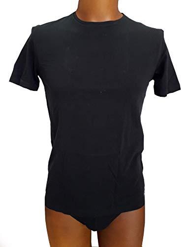 FILA Herren Rundhals T-Shirt FU5002 Man Round Neck Undershirt 400 XXL, 400 Grey, XXL, FU5002