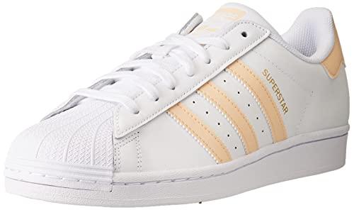 adidas Superstar, Zapatillas Hombre, Cloud White/Glow Orange/Glow Pink, 41 1/3 EU