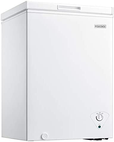 Igloo ICFMD35WH 3 5 Cu Ft Chest Freezer With Removable Basket Free Standing Door Temperature product image
