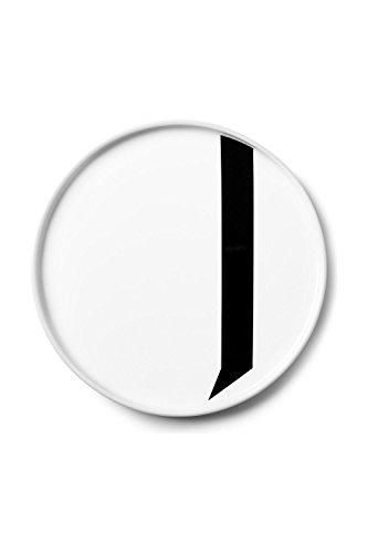 Design Letters - Teller Porzellan - Buchstabe: J - Arne Jacobsen
