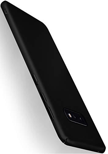MoEx® Alpha Case kompatibel mit Samsung Galaxy S10e Hülle Dünn | Ultra-Slim Handyhülle - Metallic Schutzhülle Handy Cover, Matt Schwarz