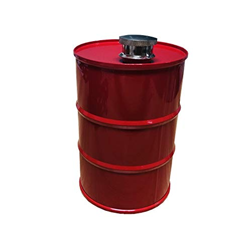 WENYOG Petaca Acero Inoxidable Botella 25 oz Creativo Mi Vodka Aceite Tambores Flagon Whiskey Embudo Inoxidable steel304 Alcohol Licor Petaca (Color : Red)