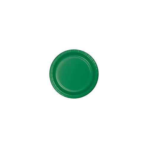 75-Count Value Pack Paper Dessert Plates, Emerald Green