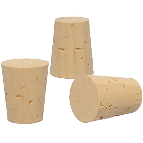Cork Stoppers, Size 11, XXX Quality, Karter Scientific 15A4 (Pack of 25)