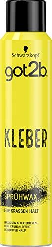 Schwarzkopf got2b Sprühwax Kleber, 1er Pack (1 x 200 ml)