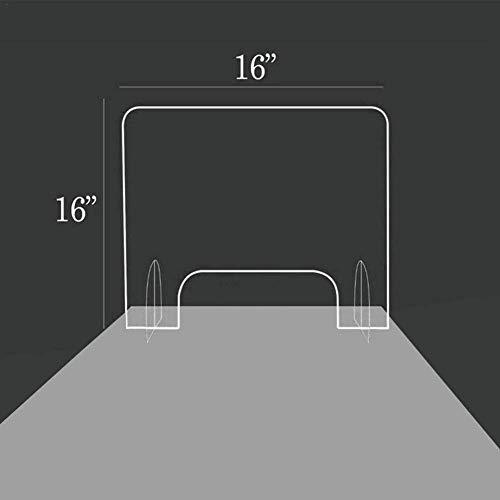 Spuckschutz Thekenaufsatz Plexiglas,for Geschäfte, Büro, Küche, Schreibtisch Sicherheitsgitter