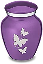 GetUrns Keepsake Mini Butterfly Cremation Urn for Ashes (Purple)