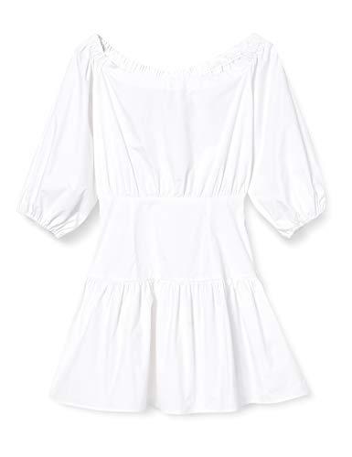 Guess Ottavia Dress Vestido, Bianco, L para Mujer