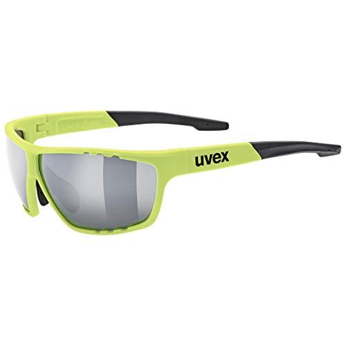 uvex Unisex– Erwachsene, sportstyle 706 Sportbrille, neon yellow/silver, one size