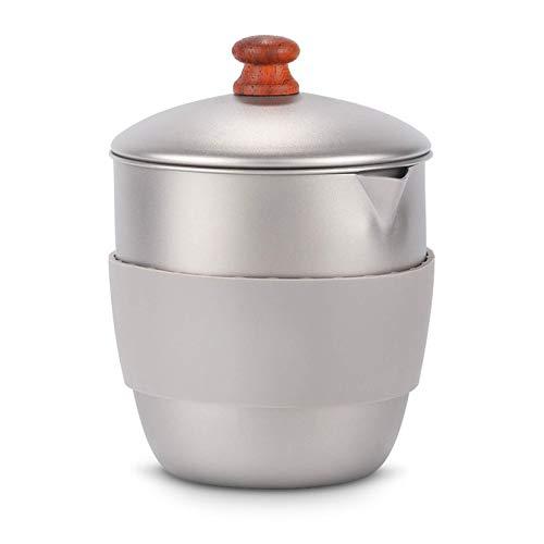 300ml Aley Tea Fabricante de té Pot Ligero Ligero Camping Tetera Tetera Kettle Malla Infusor Breedar Calor Aislamiento Manga de goma
