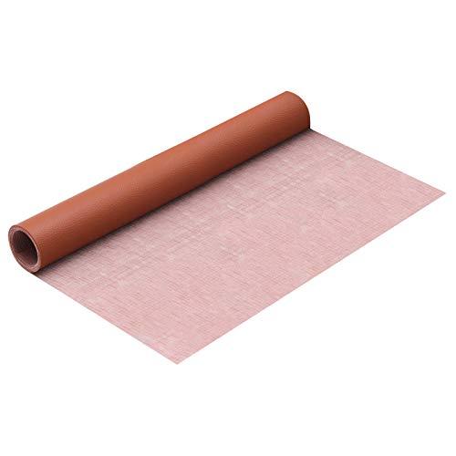 Lámina autoadhesiva de piel sintética de poliuretano, para muebles, manualidades, reparación de cuero, 42 x 137 cm (café)
