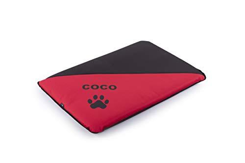 Mr.Doggy Colchoneta Personalizada para Perros - Impermeable y Resistente - Colchón para Perro Grande, Pequeño y Mediano - Exterior e Interior - Cama Antimordeduras (L (105x75x6cm), Rojo)