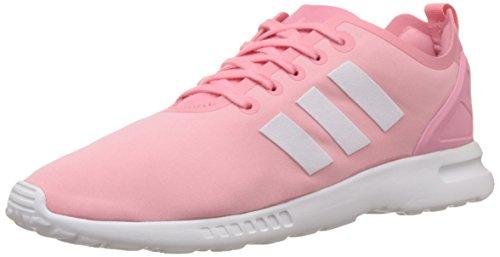 adidas ZX Flux Smooth, Scarpe da Ginnastica Donna, Rosa (Pink (Super Pop F15/Core White/Core Black), 40