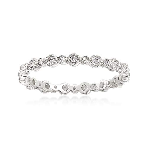 Ross-Simons 0.25 ct. t.w. Diamond Eternity Band in 14kt White Gold. Size 6