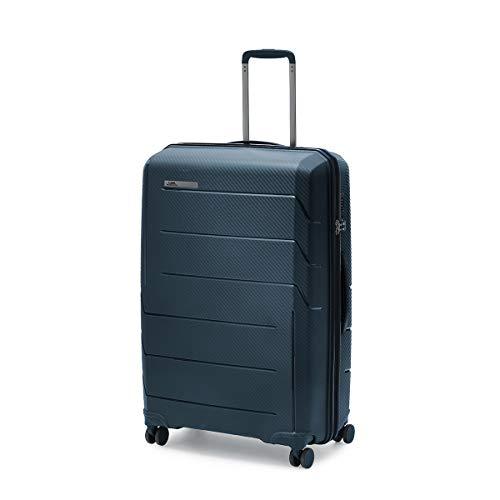 Ciak Roncato, Trolley Valigia Grande Rigido in polipropilene, Serie AIR, Per Lunghi Viaggi, Bagaglio da Imbarcare, Colore Blu Navy