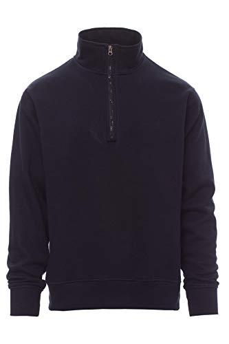 Mivaro Herren Troyer, Pullover mit 1/4 Reißverschluss, hoher Kragen, ohne Kapuze, Größe:L, Farbe:Dunkelblau