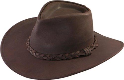 Henschel Men's Dakota Leather Australian Cowboy Hat,XXX-Large,Brown
