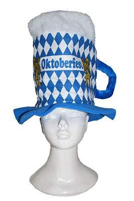 Bonnet bavarois mug de bière blanche blanche oktoberfest