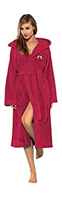 L&L Company Women Soft Robe Housecoat Dressing Gown Hooded Bathrobe