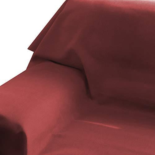 DecoHomeTextil Brilliant Sofaüberwurf Sofa Überwurf Bezug Couchbezug Bettüberwurf Tagesdecke 160 x 220 cm Dunkelrot Farbe und Größe wählbar mit Lotus Effekt Eckig