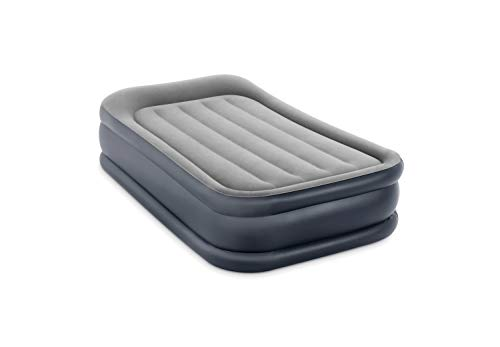 Intex Dura-Beam Standard Series Deluxe Pillow Rest Raised Airbed with Internal Pump, Twin